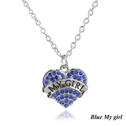 Jewelry Heart Shape Girl Pendant Believe Faith Blessed Family Member Necklace