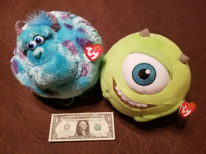 d4d74c9c326 Image is loading Ty-Beanie-Ballz-Disney-Mike-Wazowski-Sulley-Monsters-
