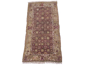 Antique-4X9-Agra-Gallery-Runner-Hand-Knotted-1880s-Oriental-Wool-Rug-4-4-x-9-3