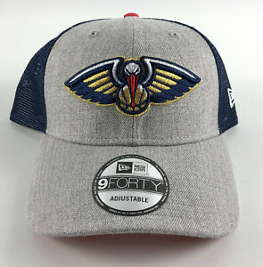 Details About New Orleans Pelicans Baseball Snapback Hat New Era 9forty Gray Blue Trucker 18