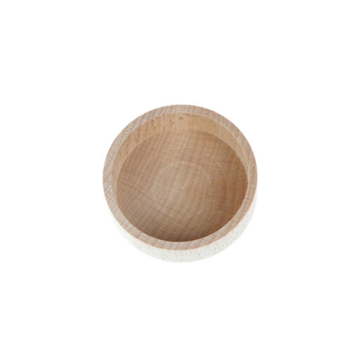 Round Wooden Wedding Ring Jewelry Trinket Box Wood Storage Container CaseUL