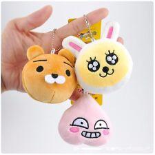 3PCS SET Kakao Talk Characters Cartoon Ryan Apeach Muzi Soft Plush Keychain