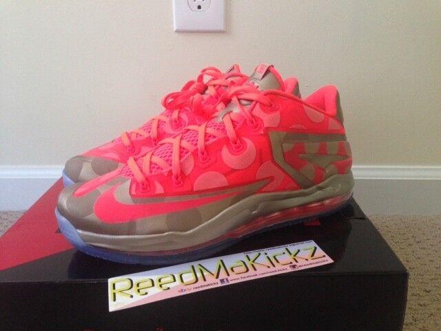 Nike Max Lebron XI 11 low  Maison du Lebron  Polka dots hyper punch mens sizes