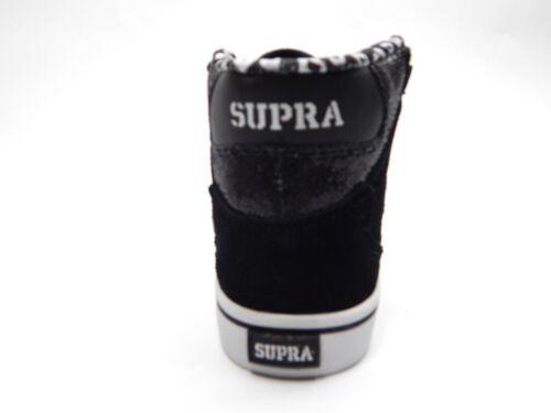 SUPRA KIDS VAIDER BLACK GLITTER WHITE SHOES