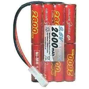 Radio Control Receiver Battery Pack 9.6v 2600mah Flat