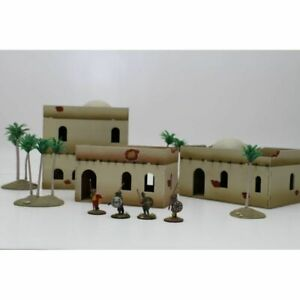 NORTH-AFRICA-BUILDING-SET-3-Bandua-Wargames-UnPainted-28mm-Brand-New-in-Box
