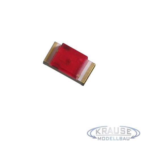Km0121 5 Pièces SMD DEL 1206 rouge diffuse avec Décodeur Toron 0,05 mmâ² maquettes