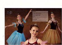 Rhinestoned Velvet Dance Costume Ballet Romantic Long Tutu 3 Color Choices