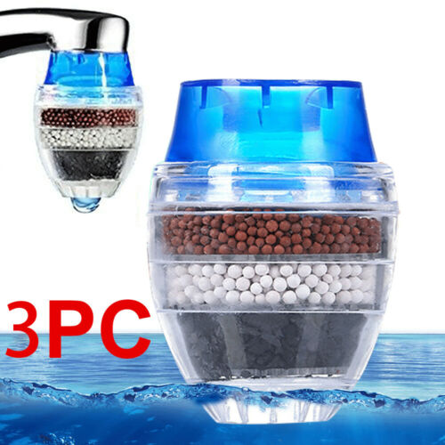 3 Pcs//Pack Faucet Kitchen Home Cartridge Tap Water Clean Purifier Filter Carbon