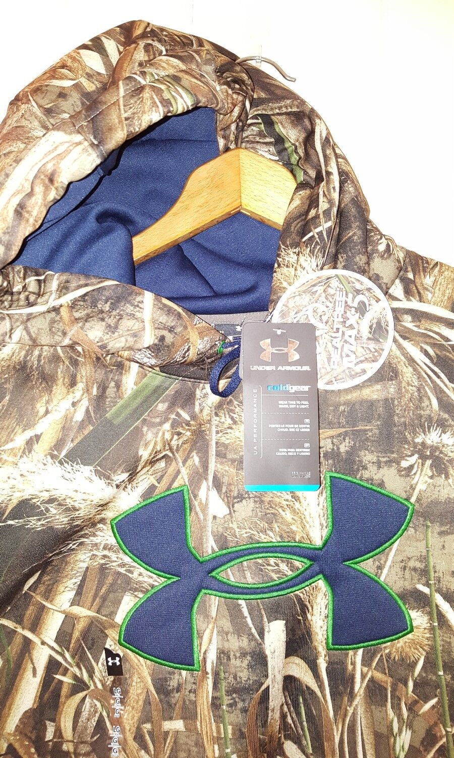 NEW Under Armour ColdGear Realtree Max-5 Pullover Hoodie Men Large