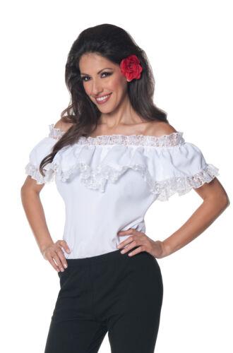 Brand New Spanish Dancer Senorita Blouse Adult Costume