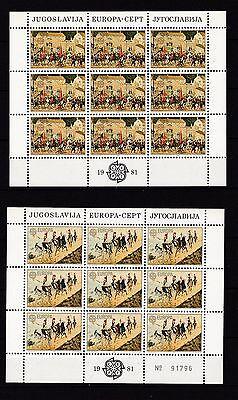 1883-1884 Europa Folklore äSthetisches Aussehen Jugoslawien 1981 Postfrisch Kleinbogen Minr Europa