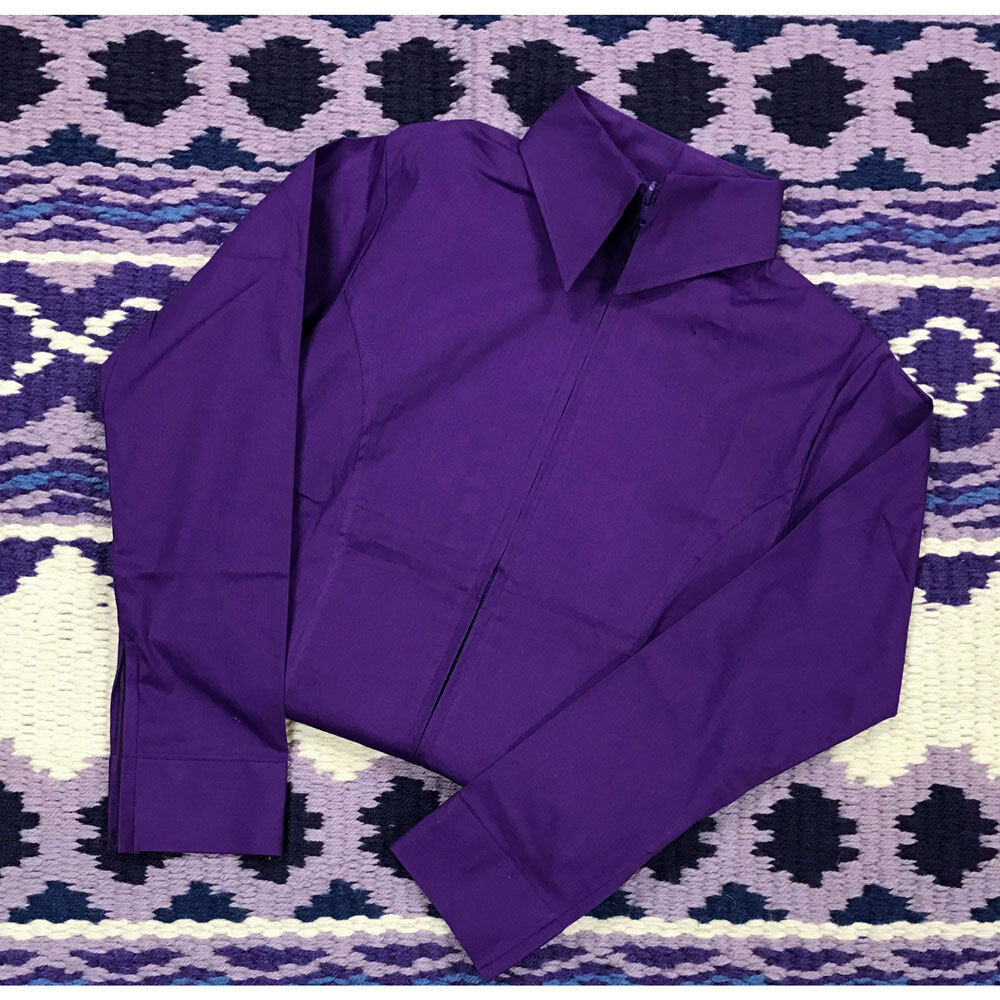 38227 Royal Highness Western Girl's Western Highness Zip Up Show Shirt NEW b49153