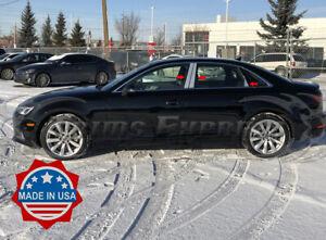 2017-2020-Audi-A4-Chrome-6Pc-B9-Pillar-Post-Trim-Stainless-Door-Cover