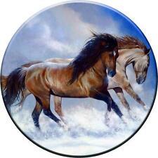 SPARE WHEEL COVER STICKER HORSES 2 CUSTOM DESIGN PERSONALISED VINYL SKIN