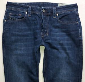 Da-Uomo-Diesel-Larkee-beex-Jeans-W32-L30-Blu-Regolare-Dritto-Wash-084NR-Stretch