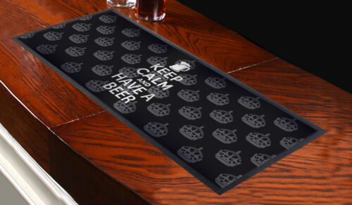 keep Calm And Have A Beer Design Bar Runner Multi Mat Pub Club Party Home Shop