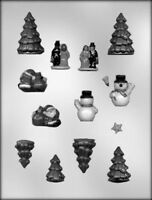 Christmas Mini Village 3d Chocolate Candy Mold Holiday