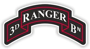 3e Ranger Insignia Autocollant Decal Régiment Unired États Bataillon De L'armée Logo Bn-afficher Le Titre D'origine