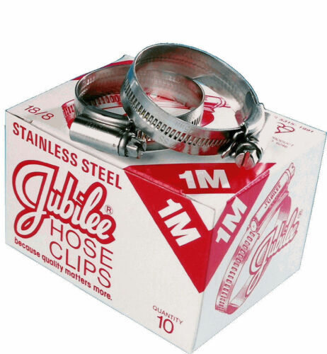 JUBILEE HOSE CLAMPS SIZE M00 BS16 BOX OF 10 STAINLESS STEEL JAGUAR XKE MG MGB