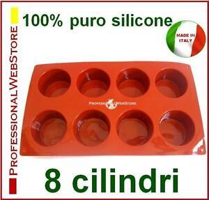 8-CILINDRI-STAMPO-SILICONE-FORME-stampi-a-CILINDRO-formine-cilindriche-rotonde