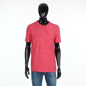 BERLUTI 580$ Iconic Scritto Tshirt In Pink Cotton Terry