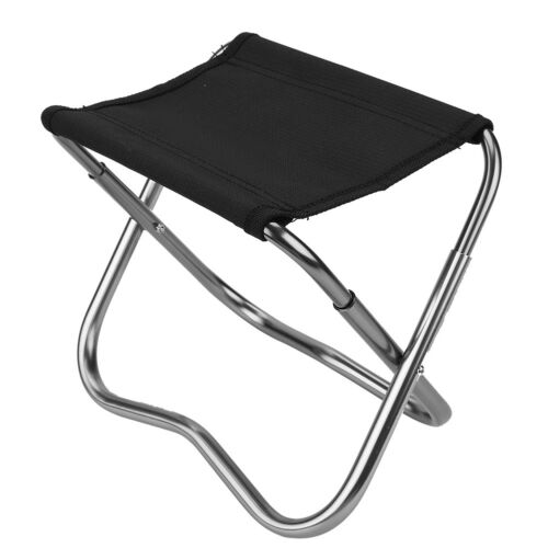 Mini Alloy Folding Stool Chair Outdoor Foldable Chair for Camping Fishing W// Bag