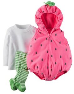 Carter s nwt 24m microfleece strawberry costume infant baby girl