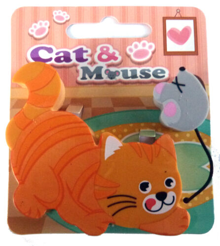 CAT AND MOUSE NOVELTY ERASERS IDEAL STOCKING FILLER