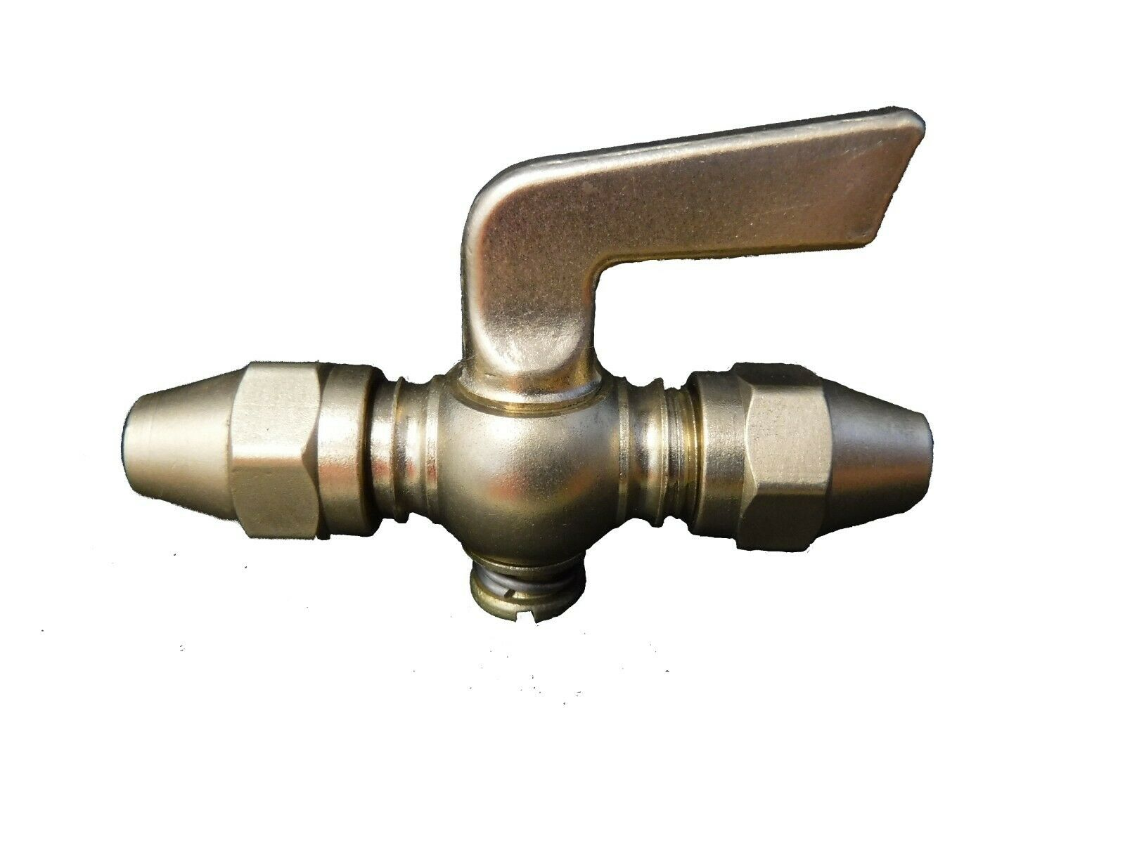 1//4 Inch FNPT Thread  Brass Drain Pet Cock Shut Off Valve Fuel Gas Oil Air