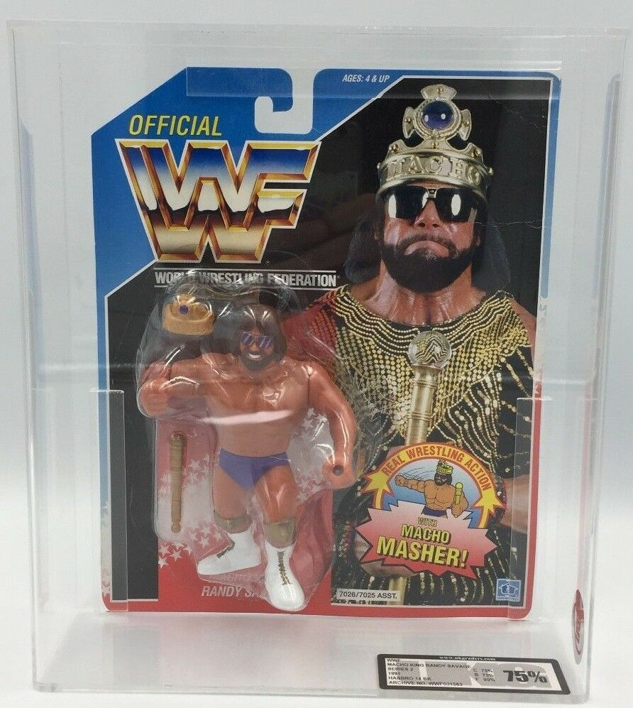 WWF Hasbro MACHO KING Series 2, 1991 Carded Figure-75% UKG not AFA graded