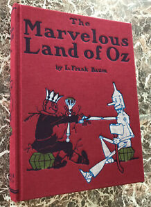 Marvelous-Land-of-Oz-L-Frank-Baum-Facsimile-of-1904-First-Edition-w-MAP-Wizard