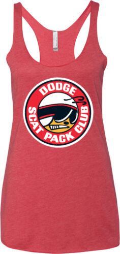 Ladies Tri Blend Racerback Tank Dodge Scat Pack Club