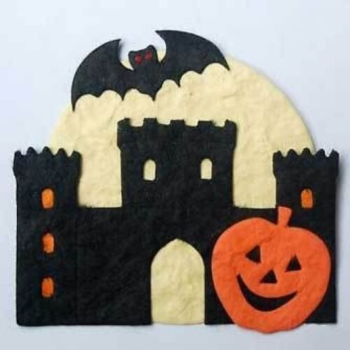 PK 3 HALLOWEEN CASTLE TOPPER EMBELLISHMENTS FOR CARDS /& CRAFTS