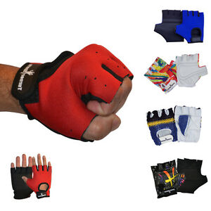 TurnerMAX Weight Lifting Gloves Training Exercise Glove Cycling Fitness Grip Red Black