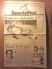 Boston Globe Sports Plus October 10, 1986- Bruins, Holy Cross, Patriots, Celtics