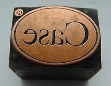 Printing Letterpress Printers Block Oval Copper Case Logo