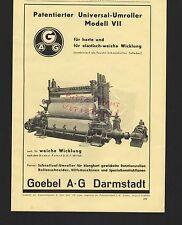 DARMSTADT, Werbung 1939, Goebel AG Schnellauf-Umroller