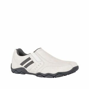 Mens Woodlands Alfred Shoes Ice Grey Slip On Shoes White Sneakers