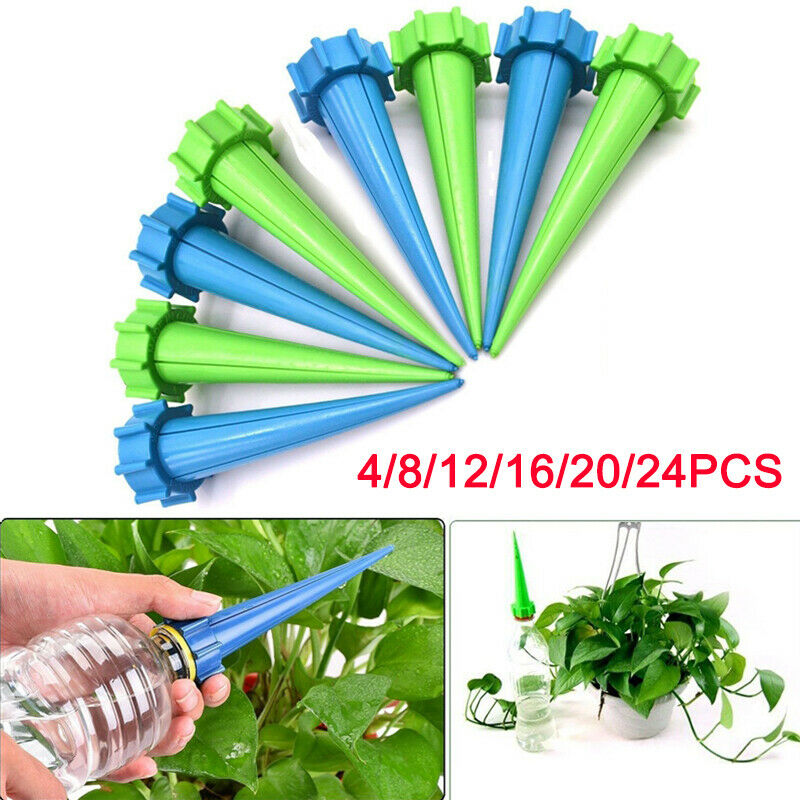 4x Automatic Watering Irrigation Spike Garden Plant Flower Drip Sprinkler Water Traveling Shower Equipment