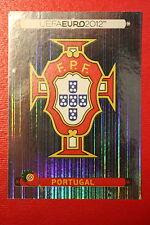 Panini EURO 2012 N. 253 PORTUGAL BADGE  NEW With BLACK BACK TOPMINT!!