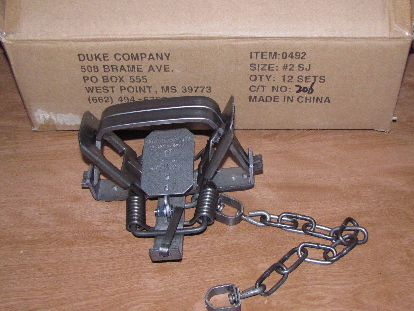 12 Duke   2 Cuadrado Cuadrado Cuadrado Jaw Muelle de trampa COYOTE BOBCAT Zorro Lince Dz 0492 (1) d88209
