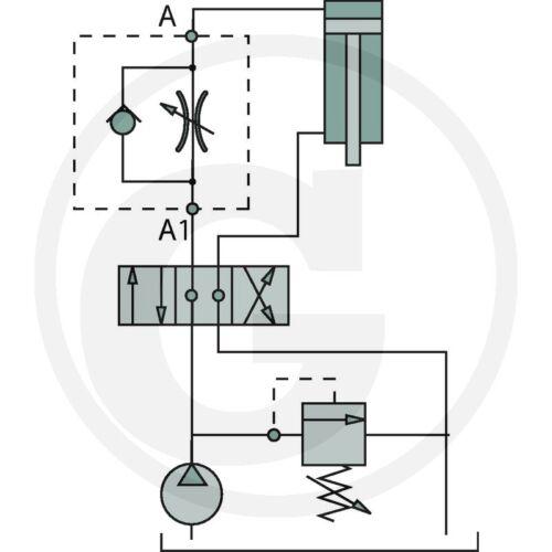 "Hidráulica drosselrückschlagventil drv-k-06/_3//8/""/_30l /_ electricidad regla válvula /_"