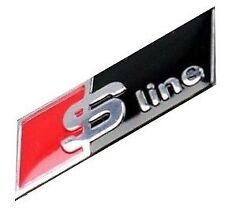 S line steering wheel badge emblem black sticker fit: AUDI S A4 S4 A6 Q7 Sline