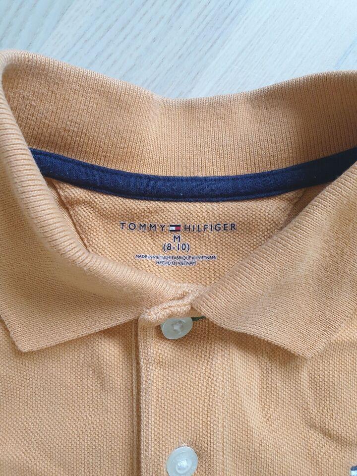 T-shirt, Lys orange T-shirt med krave, Tommy Hilfiger