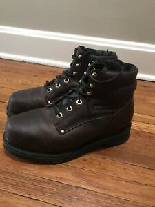 a5f5e6c99f1 Details about Florsheim FE665 Steel Toed Work Boots Work-Tec 8D Slip Res  Dark Brown Leather