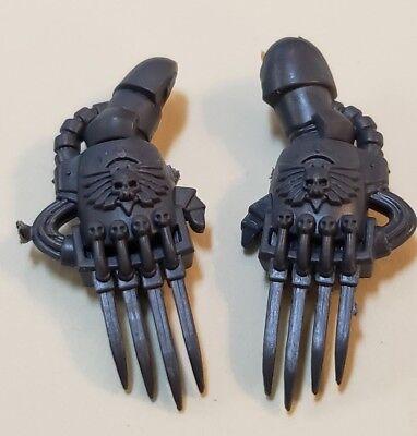 Warhammer 40K 40k bits 4 Space Marine Vanguard Veteran pairs lightning claws