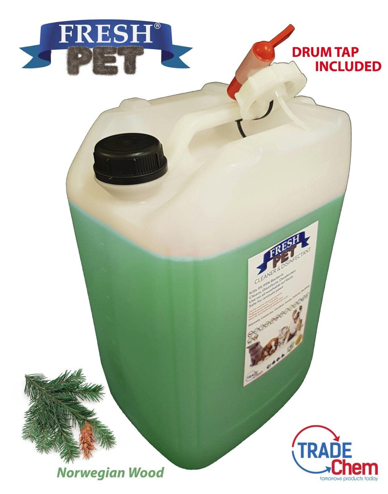 Fresco Animale Domestico Disinfettante Detergente 25L Tamburo con Tap Norvegese