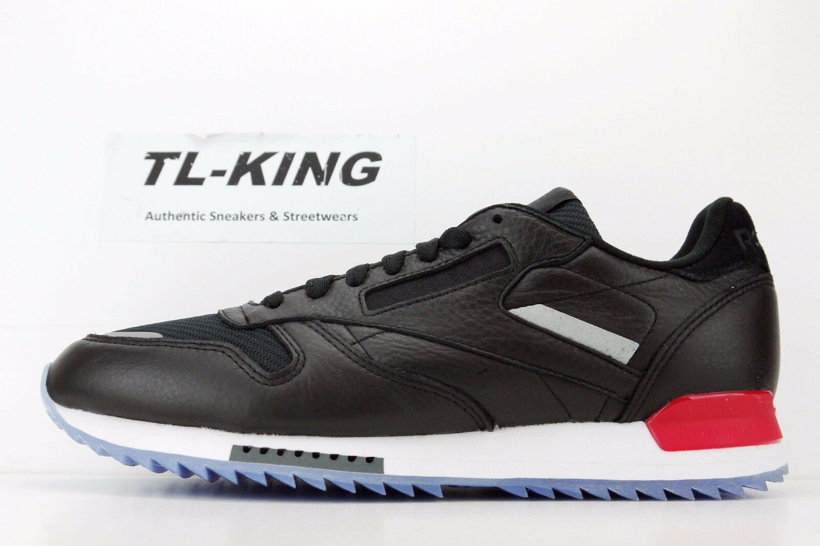 Reebok CL Classic Leather Ripple Low BP Black White Red Dust Ice BS5218 Ii