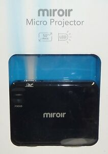 Miroir micro 360p dlp pico projector mp30 black brand new for Miroir hd pro projector m220